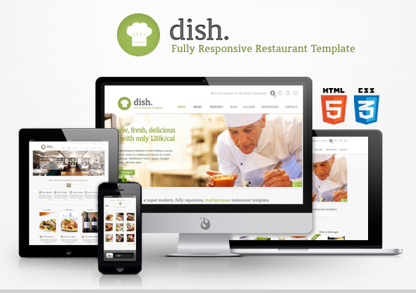 Dish Multipurpose Site Restaurant Template